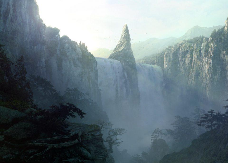 digital-painting-dusso-waterfall